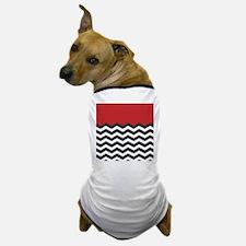 Red Black and white Chevron Dog T-Shirt
