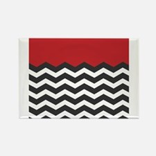 Red Black and white Chevron Magnets