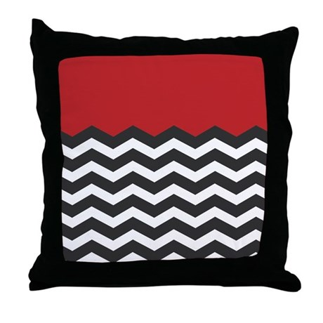 Red Black White Decorative Pillows : Red Black and white Chevron Throw Pillow by Admin_CP49789583