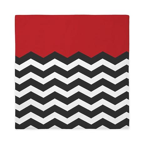 red_black_and_white_chevron_queen_duvet.jpg?color=White&height=460 ...