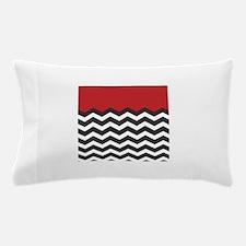 Red Black and white Chevron Pillow Case