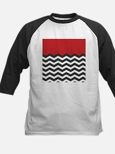 Red Black and white Chevron Baseball Jersey