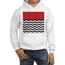 Red Black and white Chevron Jumper Hoody