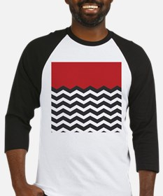 Red Black and white Chevron Baseball Jersey