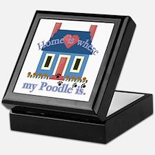 Poodle Lovers Gifts Keepsake Box