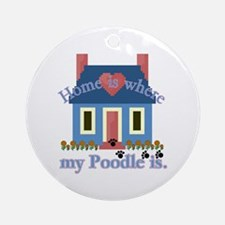 Poodle Lovers Gifts Ornament (Round)