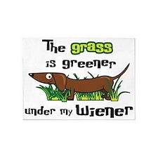Under my wiener 5'x7'Area Rug