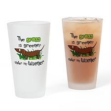 Under my wiener Drinking Glass