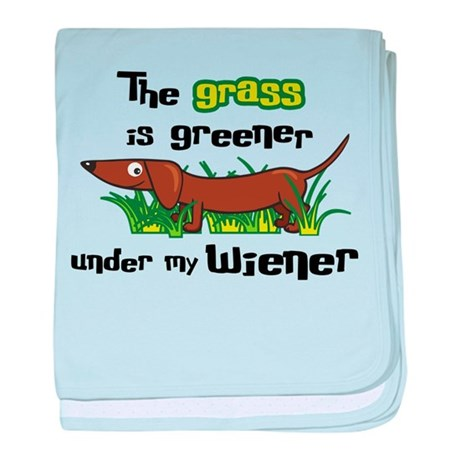Under my wiener baby blanket
