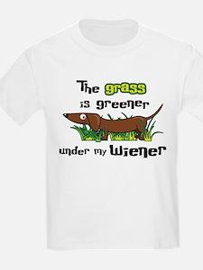 Under my wiener T-Shirt