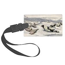 Vintage Marine Life, Seals Luggage Tag