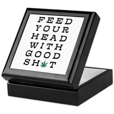 FEED YOUR HEAD WITH GOOD SHIT (LEAF) Keepsake Box