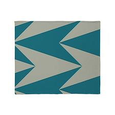 Teal Arrowhead Pattern Throw Blanket