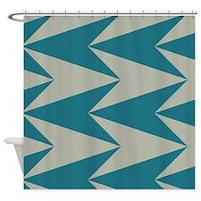 Teal Arrowhead Pattern Shower Curtain
