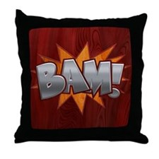 Inlay Bam! Throw Pillow