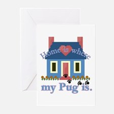 Pug Lover Gifts Greeting Cards (Pk of 10)