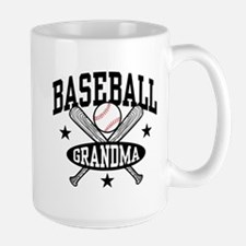 Baseball Grandma Large Mug