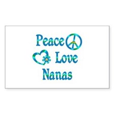 Peace Love Nanas Decal
