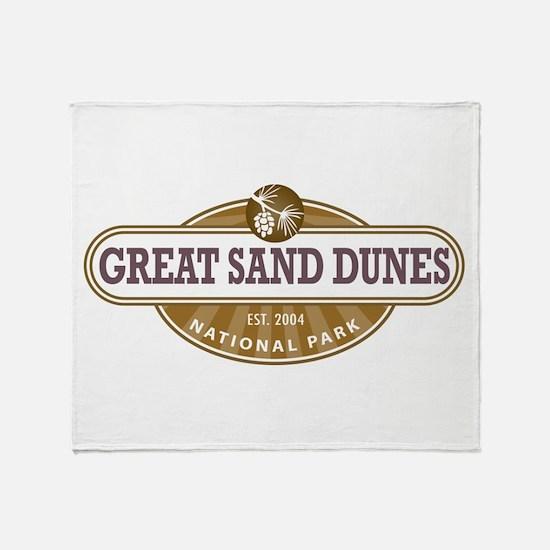 Great Sand Dunes National Park Throw Blanket