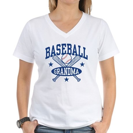 Baseball Grandma Women's V-Neck T-Shirt