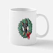 Dobie Christmas Wreath Mug