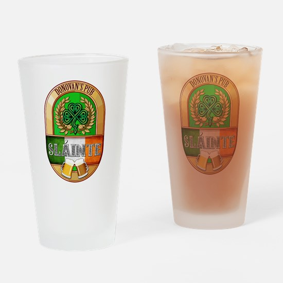 Donovan's Irish Pub Drinking Glass