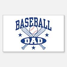 Baseball Dad Sticker (Rectangle)