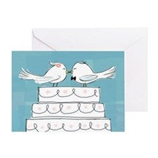 Love Birds Blank Greeting Card