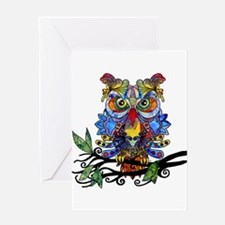 wild owl Greeting Cards