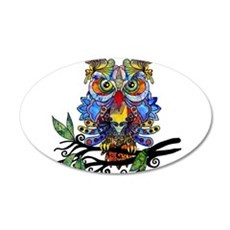 wild owl Wall Decal