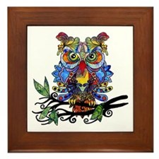wild owl Framed Tile