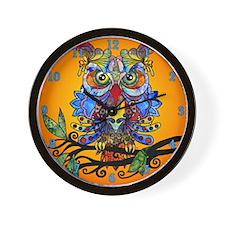 wild owl Wall Clock
