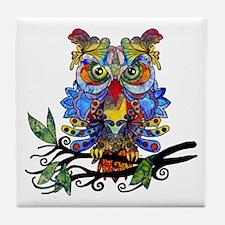 wild owl Tile Coaster