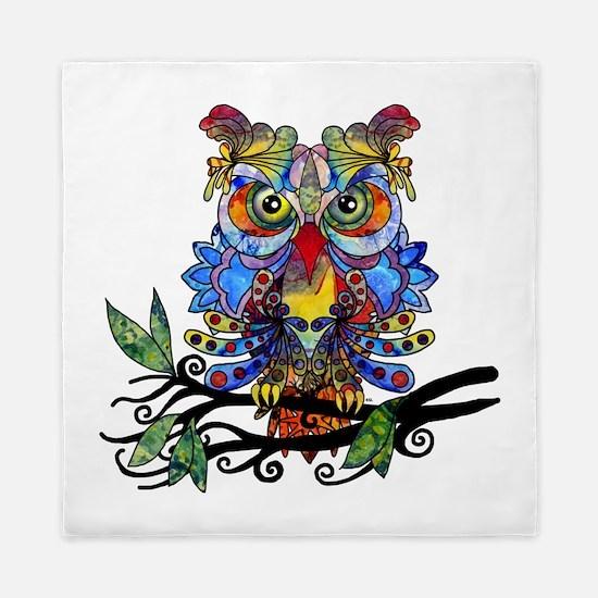 wild owl Queen Duvet