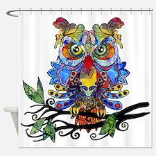 wild owl Shower Curtain