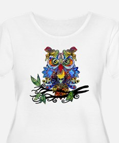 wild owl Plus Size T-Shirt