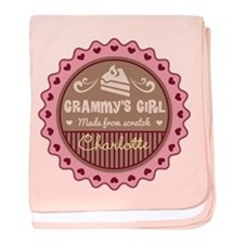 Personalized Grammys Girl baby blanket