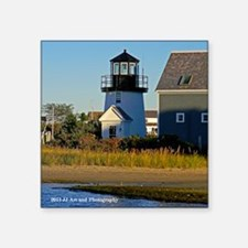 "Cape Cod Lighthouse Square Sticker 3"" x 3&amp"