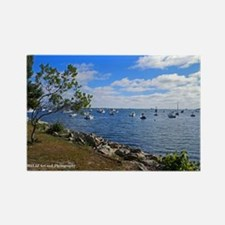 Plymouth Harbor Rectangle Magnet