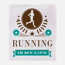 Running Is My Life Throw Blanket