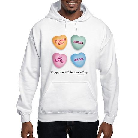 Anti-Valentine's Day hearts Hooded Sweatshirt