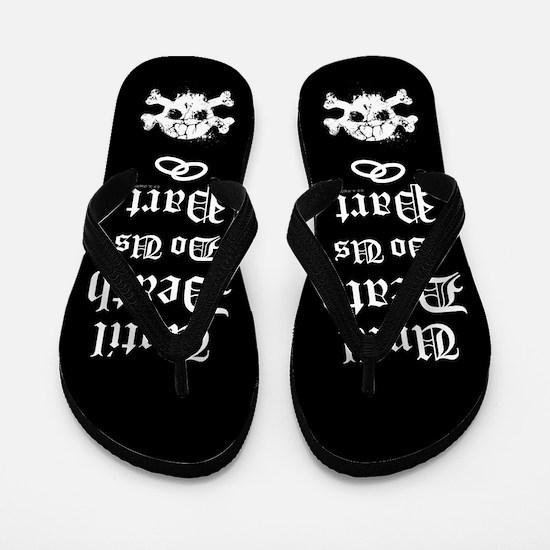Until Death Do Us Part Flip Flops