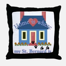 Saint Bernard Gifts Throw Pillow