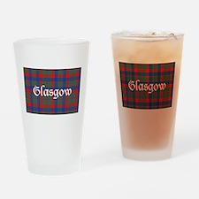 Tartan - Glasgow dist. Drinking Glass