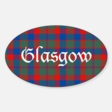 Tartan - Glasgow dist. Sticker (Oval)