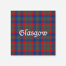 "Tartan - Glasgow dist. Square Sticker 3"" x 3"""