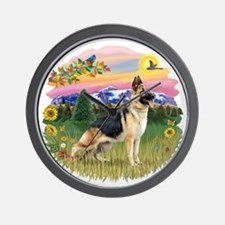 MtCountry-GermanShep13.png Wall Clock
