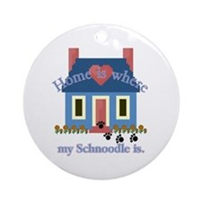 Schnoodle Lover Gifts Ornament (Round)