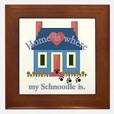 Schnoodle Lover Gifts Framed Tile