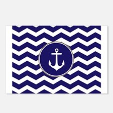 Nautical Anchor Chevron Postcards (Package of 8)